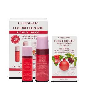 Colores del Huerto Rojo Kit Cara desmaquillante Bifásico + Crema + Mascarilla