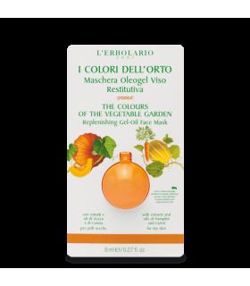 Colores del Huerto Naranja Mascarilla OleoGel Cara Nutritiva, 8 ml