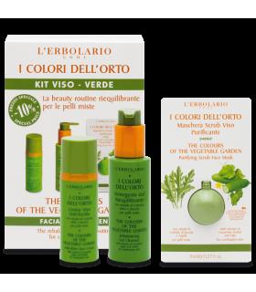 Colores del Huerto Verde Kit: Leche Detergente + Crema Cara + Mascarilla.