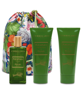 RUIBARBO BEAUTY BAG TRIO (PERFUME, GEL BAÑO Y CREMA), 50 ML + 25O ML + 200 ML